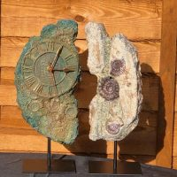 Clock and Fossil halves